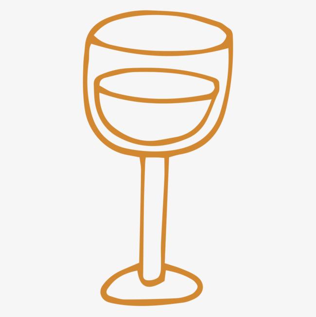卡通手绘酒杯