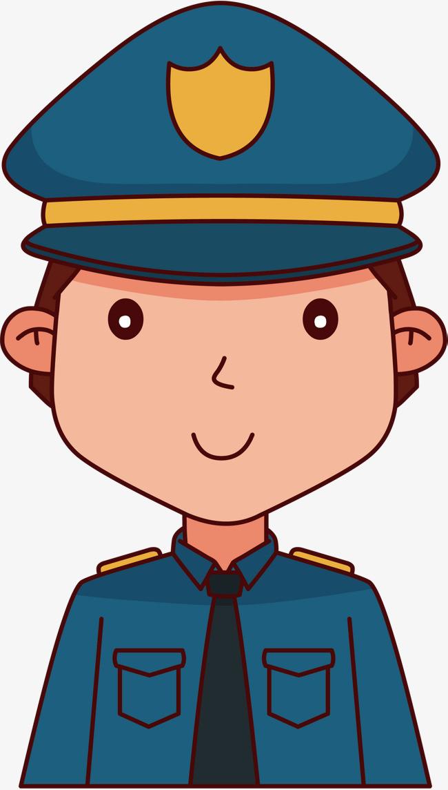 卡通手绘警察