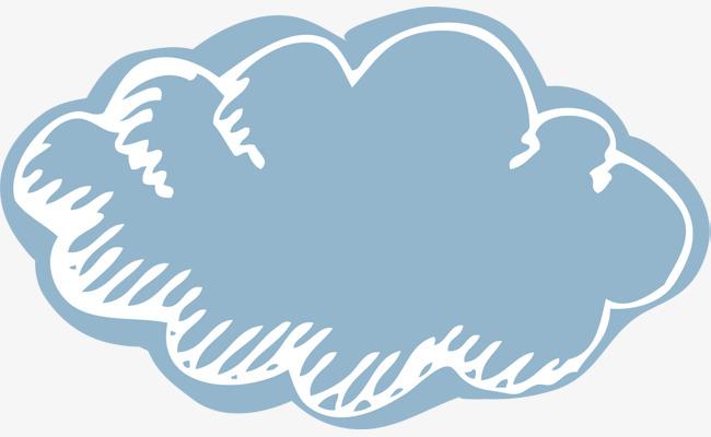 图片 > 【png】 卡通蓝色云朵  分类:手绘动漫 类目:其他 格式:png