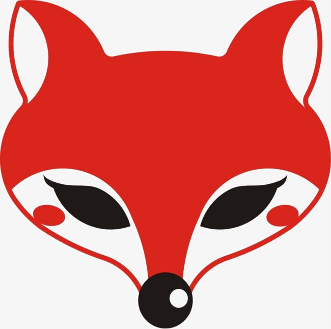 狐狸头像 红色狐狸头 插图 图标 卡通形象 漂亮狐狸头像 红色狐狸头