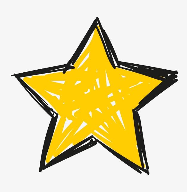 手绘的五角星