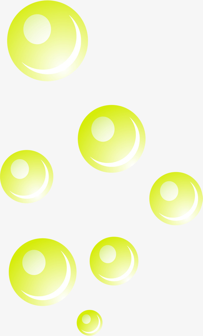 手绘绿色泡泡