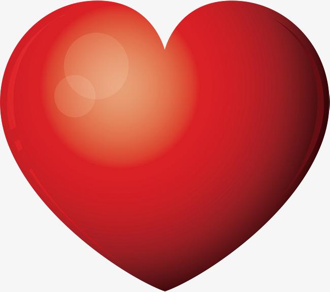 红色爱心标题框