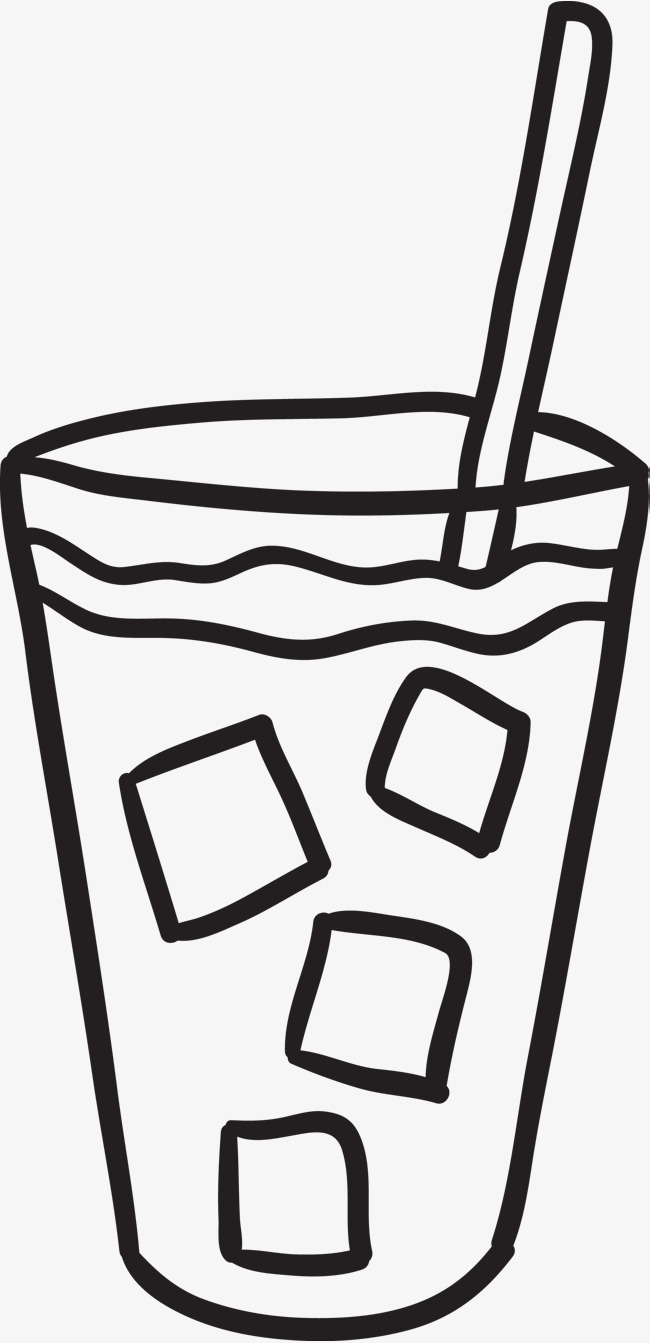 手绘简笔画冰咖啡咖啡咖啡简笔画简笔画咖啡杯便携杯外带杯吸管冰咖啡