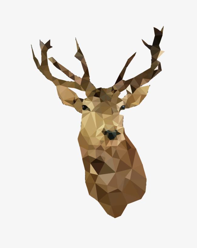 图片 > 【png】 矢量鹿头  分类:手绘动漫 类目:其他 格式:png 体积