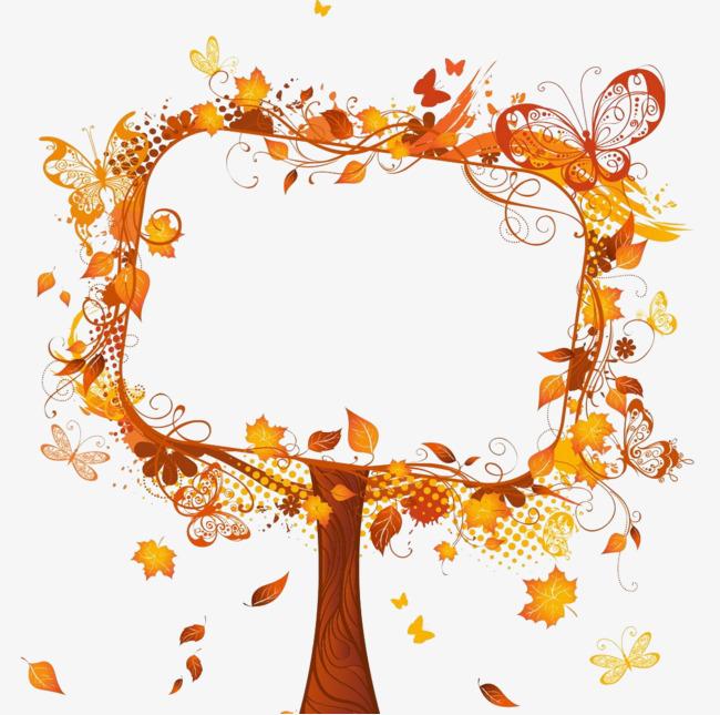 秋季树木边框_png素材免费下载_ 1024*1014像素(编号
