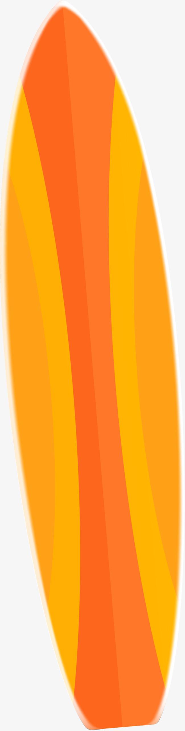 手绘橙色冲浪板_png素材免费下载_ 800*3148像素(编号