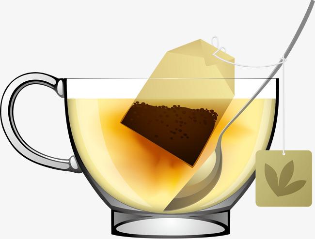 矢量手绘茶叶