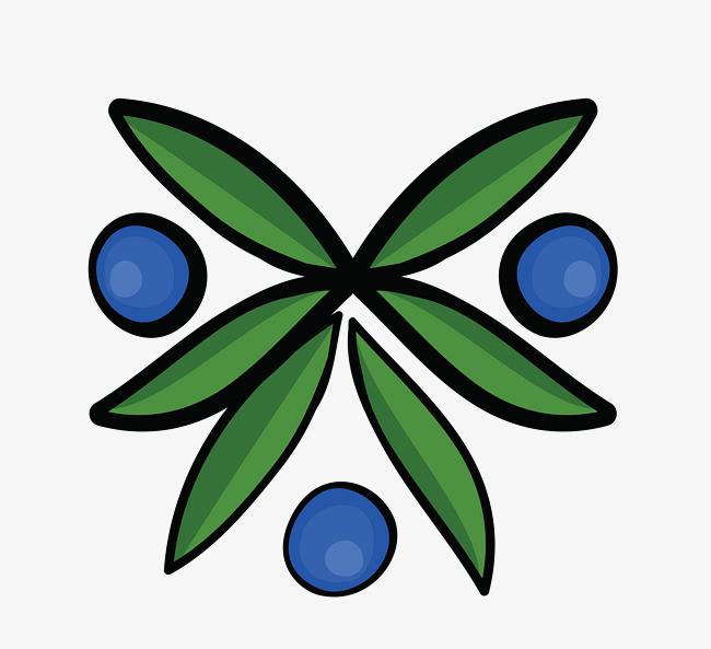 矢量卡通可爱蓝莓png