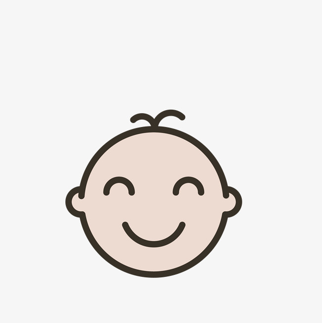 矢量卡通可爱婴儿头像pngpng素材下载_高清图片png(:)