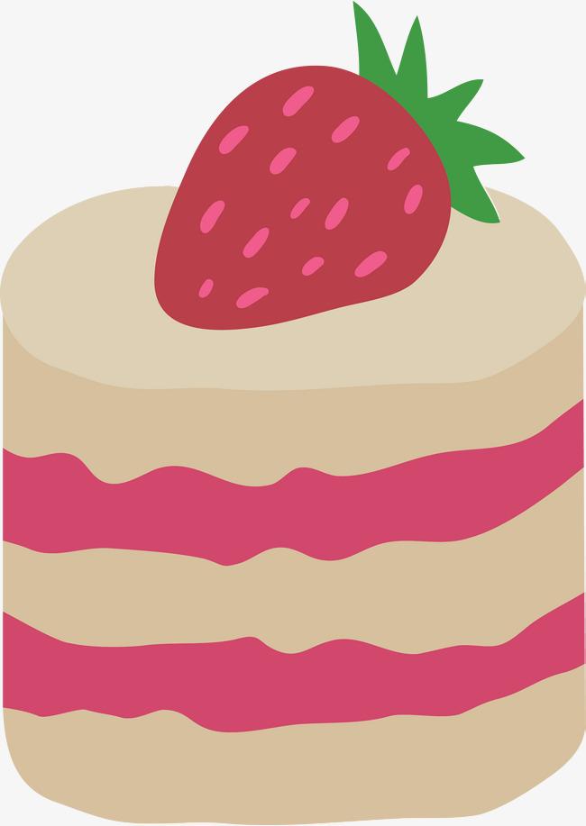 手绘卡通草莓布丁