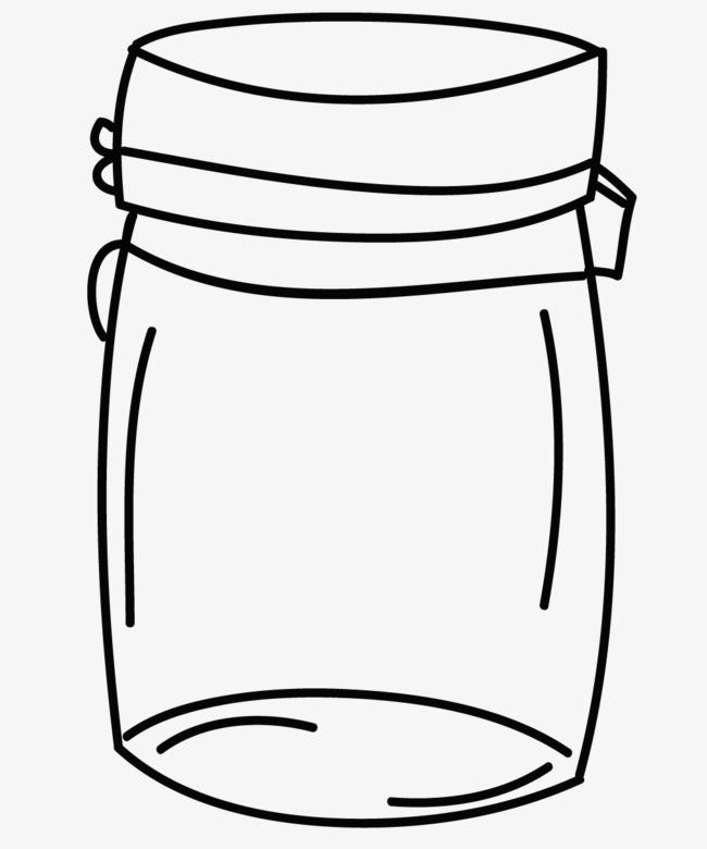 手绘瓶子瓶子罐子手绘平面几何简笔画卡通黑色-手绘瓶子素材图片免