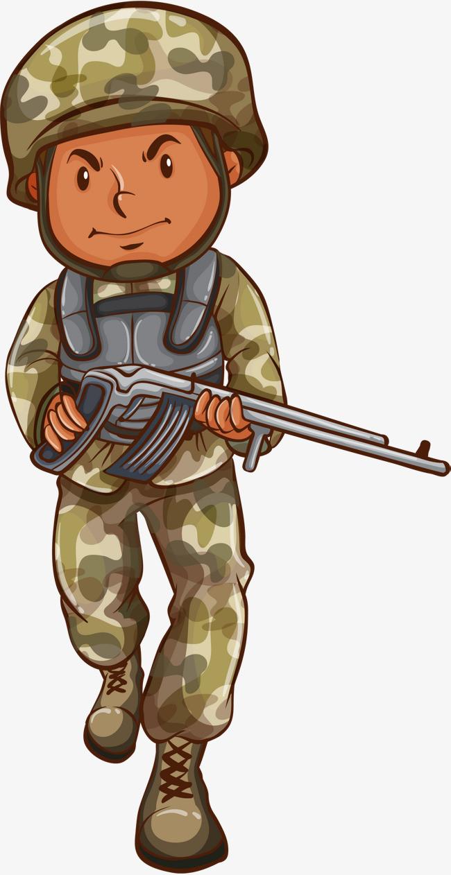 卡通军人士兵图片