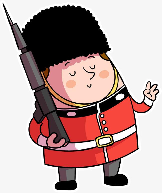 可爱手绘英国皇家卫队