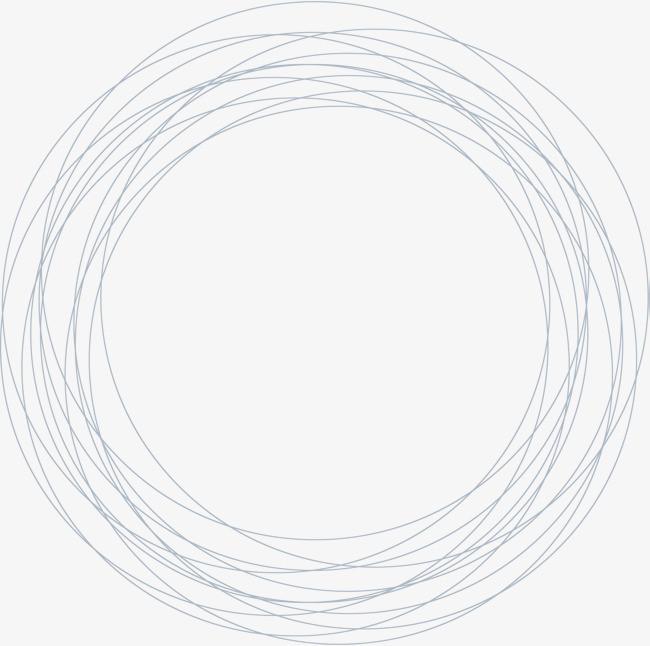 手绘灰色圆圈