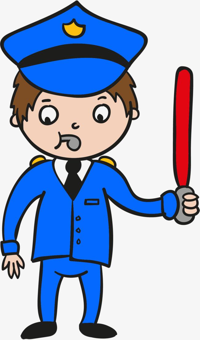 警察動漫手繪圖片公安