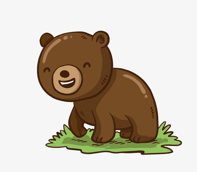 矢量卡通可爱小熊png