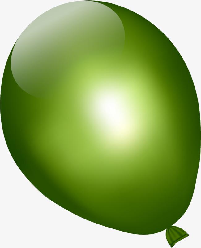 手绘绿色气球