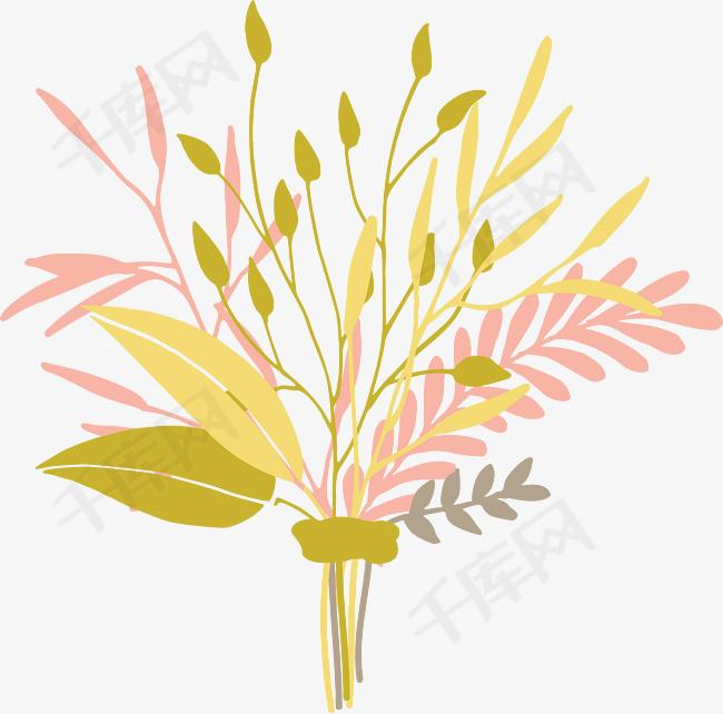 手绘花束手绘植物花卉手绘一束花漂亮花束花卉背景设计插画花草唯美花束手绘花束