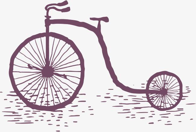 复古风手绘自行车