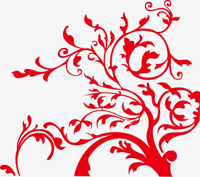 花纹底纹 红色 装饰 中国风
