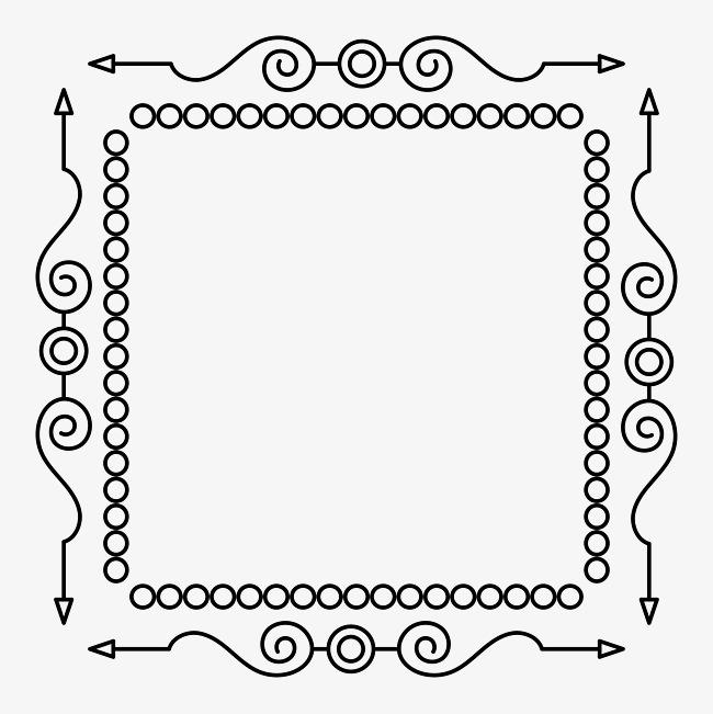 手绘正方形边框