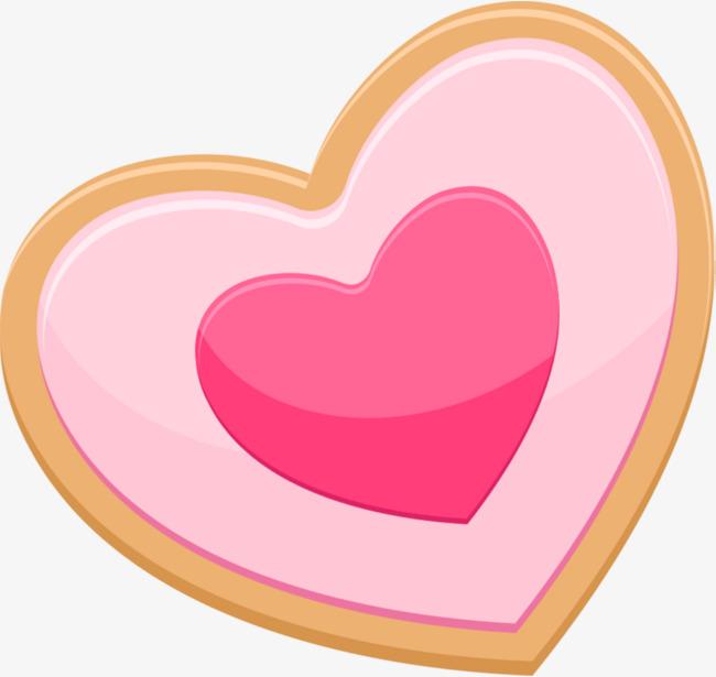 手绘粉色爱心