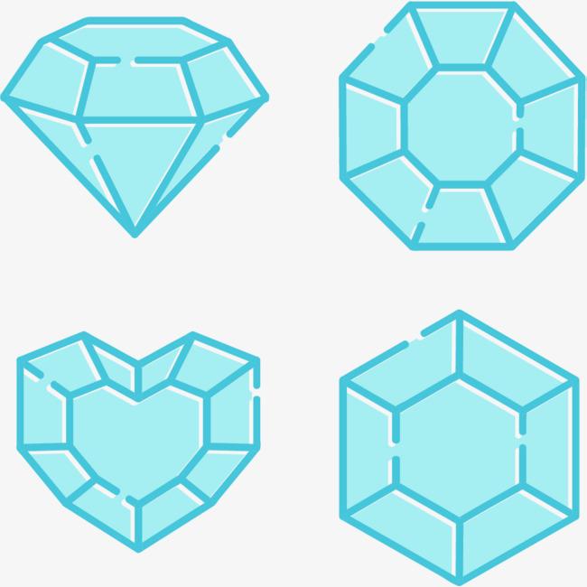 蓝色钻石png素材下载_高清图片png格式(编号:18847095