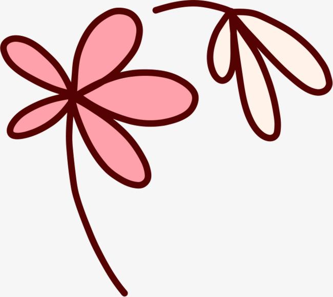简笔画可爱小花
