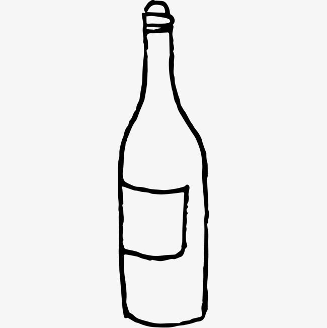 黑色手绘的瓶子