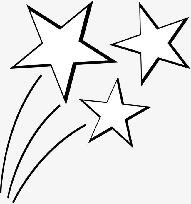 手绘白色星星_png素材免费下载_ 1001*1072像素(编号