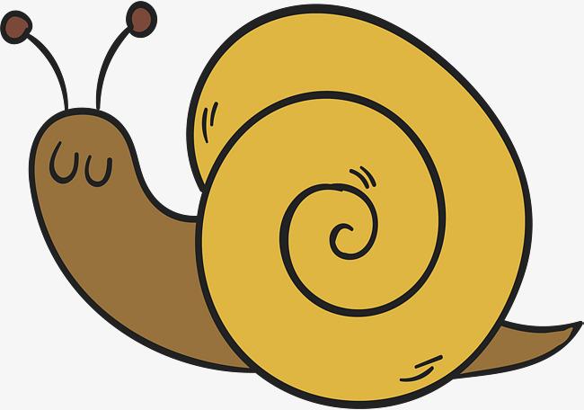 手绘可爱蜗牛