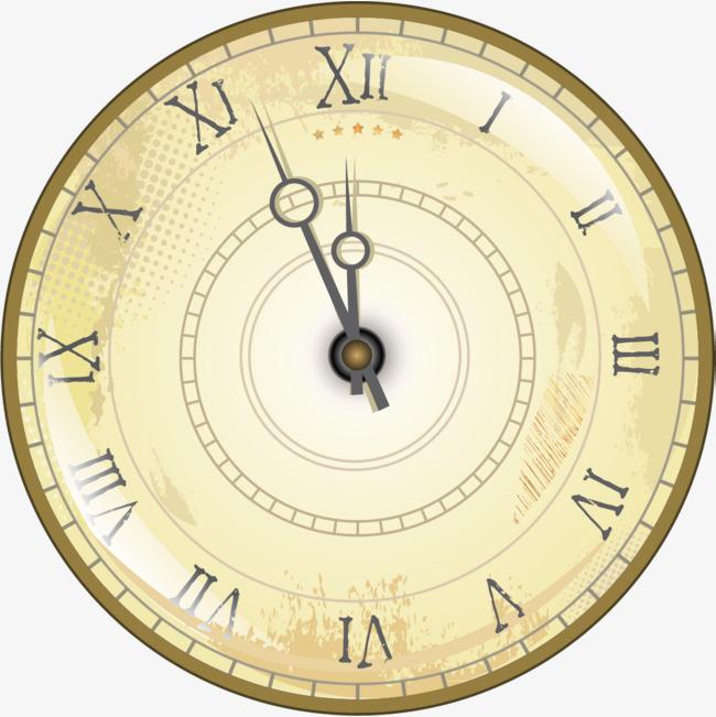 手绘黄色时钟