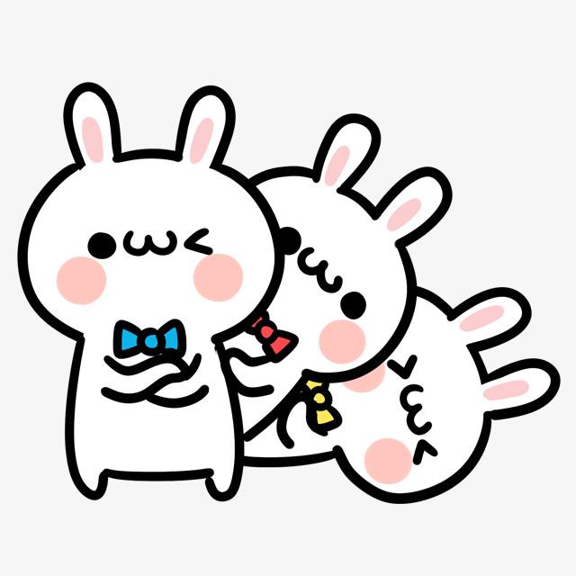 手绘卡通可爱兔子表情包