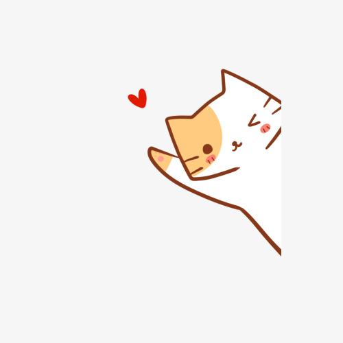 手绘卡通可爱打招呼的小猫咪素材图片免费下载 高清png 千库网 图片
