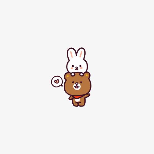兔子小熊表情_png素材免费下载_ 500*500像素(编号:)