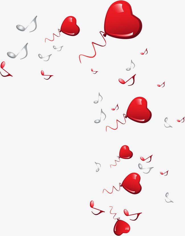 手绘红色爱心