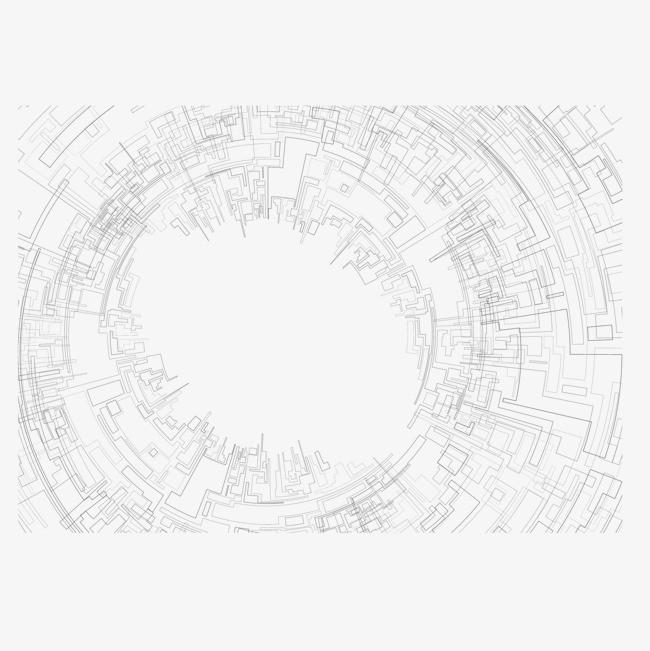黑色科技线条网络png素材-90设计图片