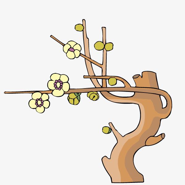 手绘卡通树木树枝_png素材免费下载_ 600*600像素(:)