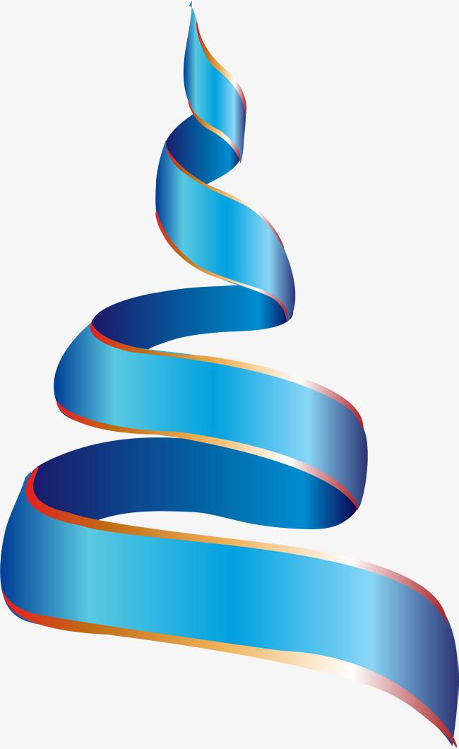 手绘 小清新 水彩 简约 蓝色 渐变 旋转 丝带             此素材是