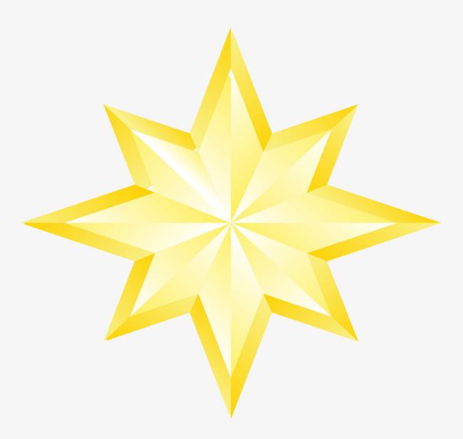 手绘黄色星星