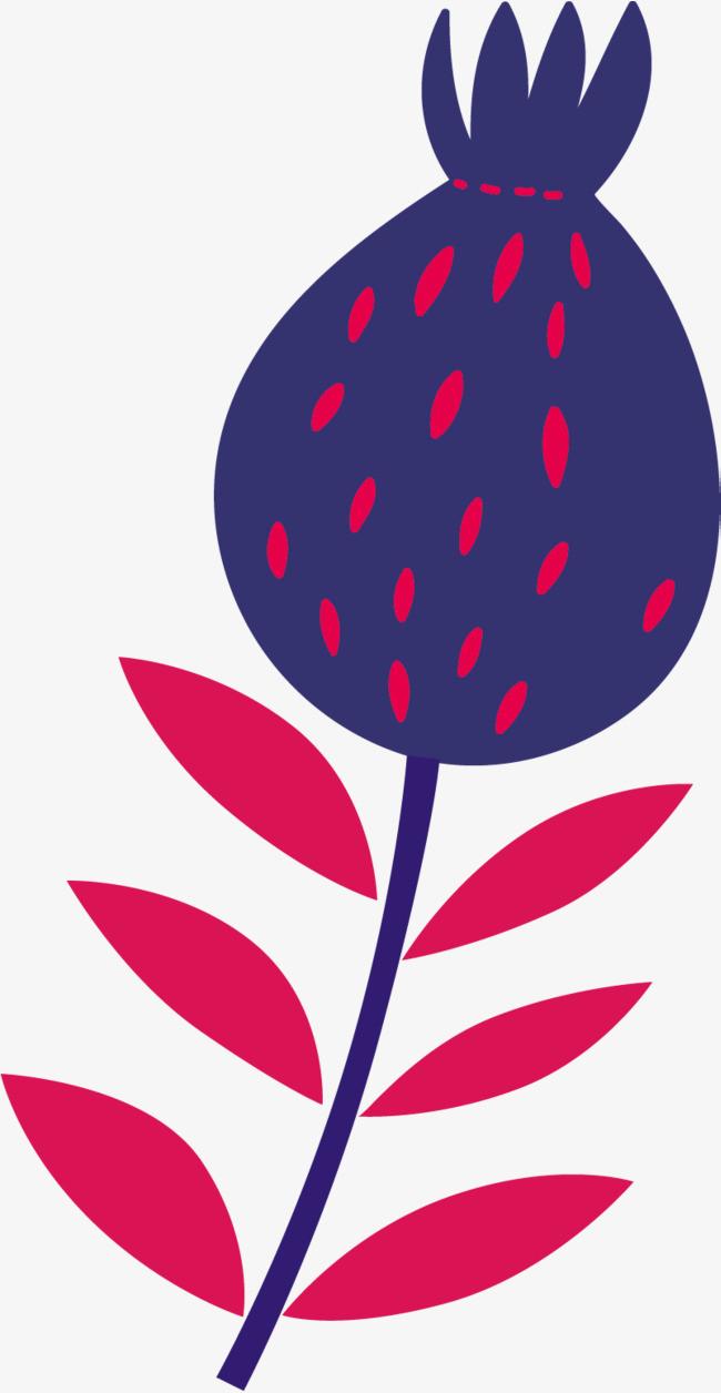 手绘蓝色花朵_png素材免费下载_ 801*1547像素(编号:)