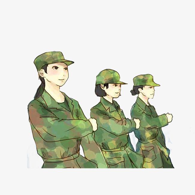 大学生军训手绘宣传