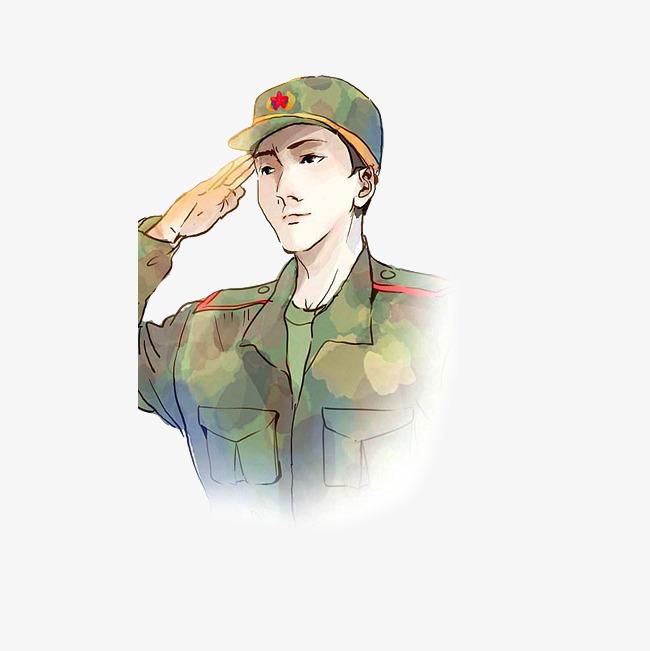中国军人敬礼军姿图片