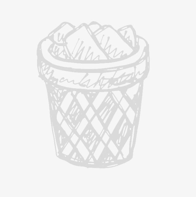 手绘的垃圾桶