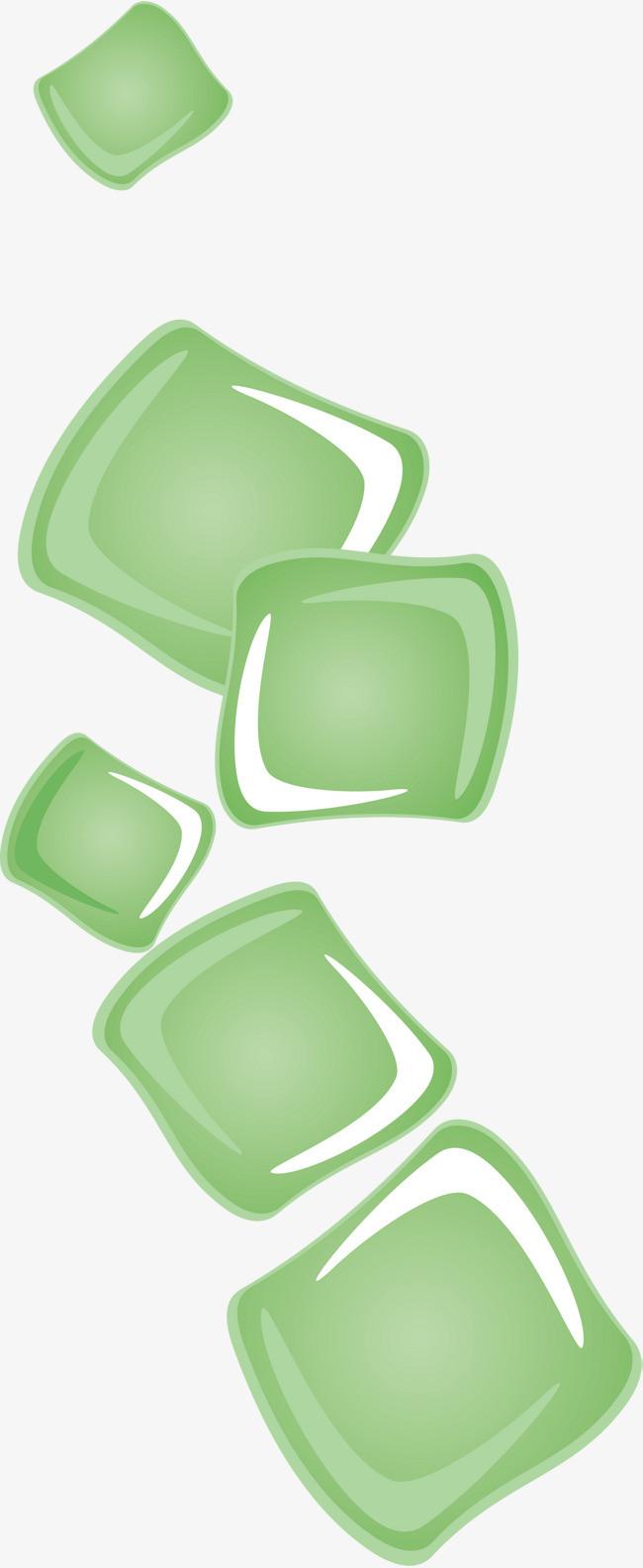 手绘绿色方块_png素材免费下载_ 1501*3656像素(编号