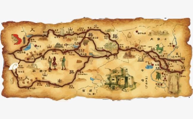 图片 > 【png】 丝绸之路地图矢量  分类:手绘动漫 类目:其他 格式图片