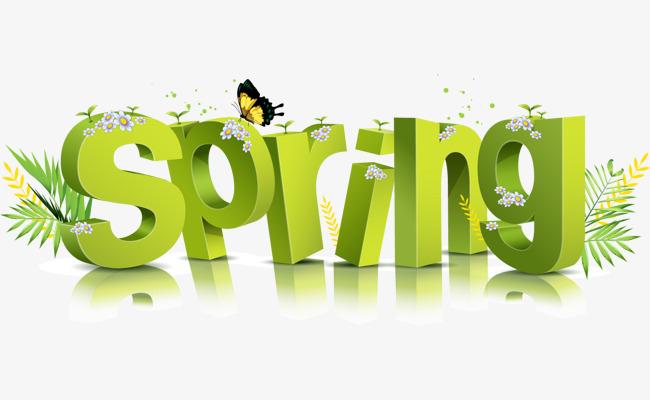 spring立体艺术字图片