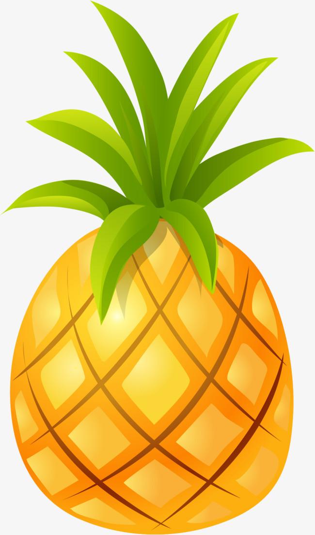 手绘黄色菠萝
