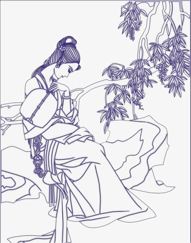 古典美女素材图片免费下载 高清png 千库网 图片编号8874731
